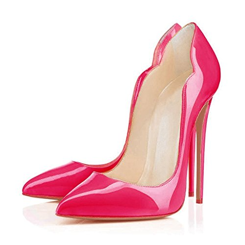 Shoes Toe Court High Stiletto EDEFS Heels Dress Shoes Pumps Sexy Pink Out Cut Pointed Womens 1Px5qtg5wO