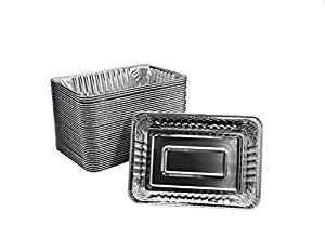 """5/10/20 PCS Disposable Lightweight Aluminum Drip Pans for Kepping Grill Clean 8.5""""x 6.0"""" (5PCS)"""