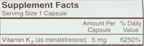 Carlson Labs Vitamin K-2, 5mg, 180 Capsules by Carlson (Image #1)