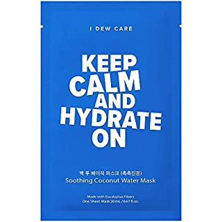 I DEW CARE Keep Calm and Hydrate On   Soothing Coconut Water Sheet Mask   Korean Skincare, Vegan, Cruelty-Free, Paraben-Free