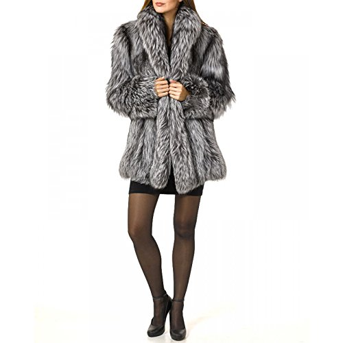 Rvxigzvi Womens Faux Fur Coat Parka Jacket Long Trench Winter Warm Tops Outerwear Overcoat Plus Size M-4XL (Silver Grey, XXL) by Rvxigzvi (Image #4)