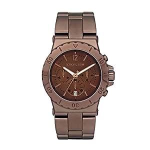 Michael Kors MK5519 - Reloj con correa de acero para mujer, color marrón / gris