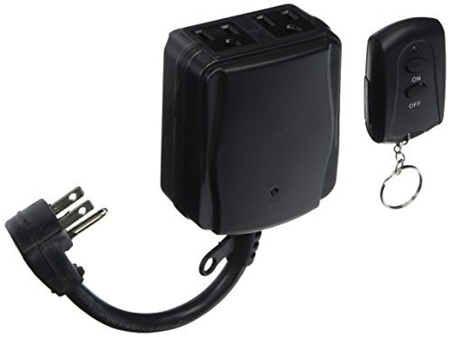 POWER ZONE TNOREM02 Two Outlet Outdoor Remote Control Switch by Power Zone