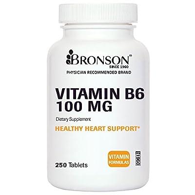 Bronson Vitamin B6 100 MG, 250 Tablets