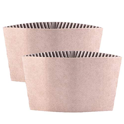 - Disposable Corrugated Hot Cup Sleeves Jackets - 500ct Kraft Reusable Holder Cup Sleeve, Protective Heat Insulation Paper Plastic white Cups for coffee tea chocolate Drinks Insulated Fit 12oz 16oz 24oz