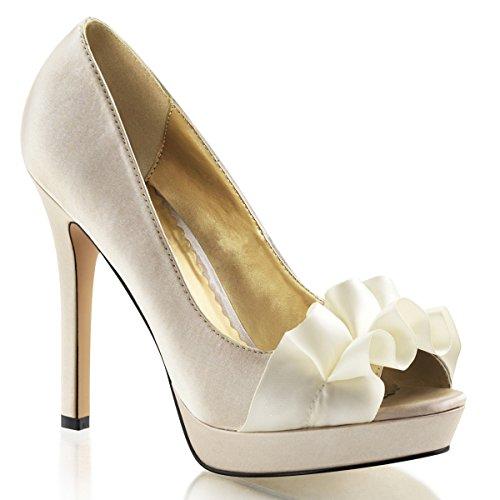 Heels-Perfect - Zapatos de vestir de Material Sintético para mujer - Hautfarben (beige)
