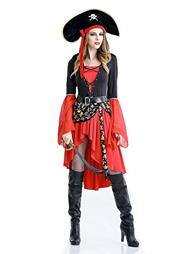 Women's halloween pirate costume fancy dress ball 89203 (L)
