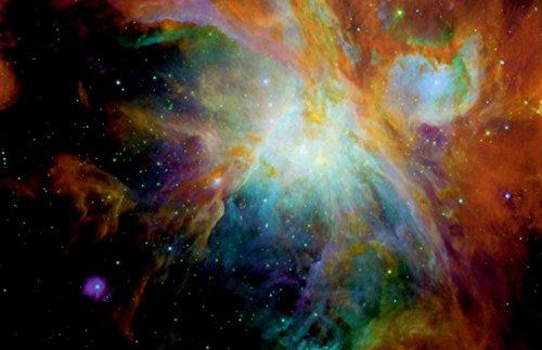 New Horizon Aviation, LLC Black Light Reactive Orion Nebula Outer Space Poster by New Horizon Aviation, LLC
