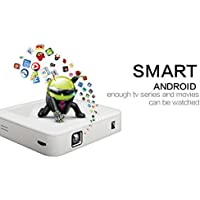 Pocket Smart Android Projector, SainSonic DL-300 DLP 1080P Portable Pico RK3188 Wi-Fi Airplay, 100 Lumen, Media Player, Up to 120 Minutes Battery Life & 15,000 Hour LED Life - White