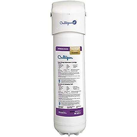 Culligan IC EZ 4 EZ Change Inline Icemaker And Refrigerator Filtration System Premium 500 Gallon Filter Included