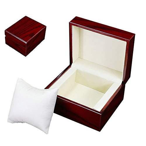Oak-Pine Premium Glossy Wooden Wrist Watch / Bangle Pillow Box Great Birthday Gift Party Gift (Display Gift Boxes Watch)