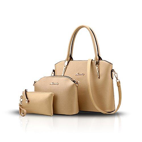 H&S Nuovo modello Femminile Borse Moda Stile semplicistico Set di 3 borse Borsa a mano + Borsa messenger + Portafoglio