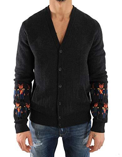 (Dolce & Gabbana Gray Knitted Cashmere Cardigan)