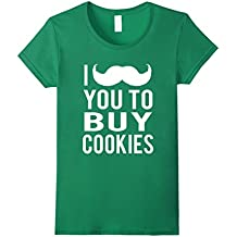 I Mustache You to Buy Cookies Scout Cookie Girls Mom T Shirt