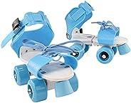 ACAMPTAR ABS Four Wheel Roller Adjustable Non Slip Wear Resistant Fixed Portable Children Double Row Outdoor K