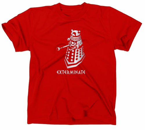 Dalek Exterminate Rouge shirt Styletex23 Who Série Tv Doctor T Bbc Tdnqg4