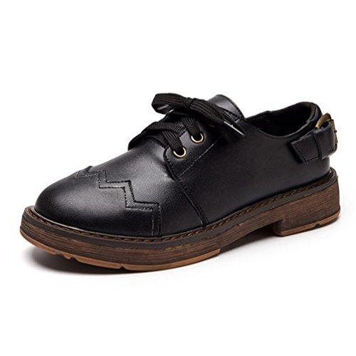 Mujer negro Zapato con JRenok cordones wxqtZ6Cp