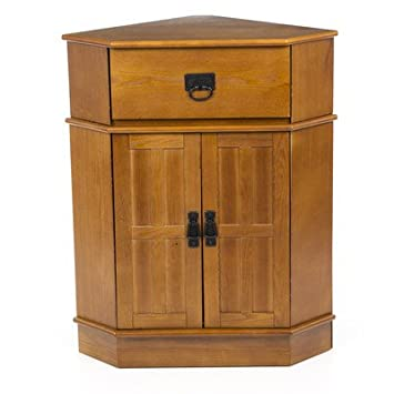 Amazon.com : 2 Door Corner Accent Cabinet for Bedroom Made of MDF ...