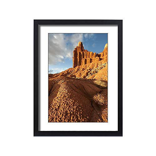 Media Storehouse Framed 24x18 Print of Landscape with Eroded Rocks in Capital Reef National Park, Utah, USA (18247037)