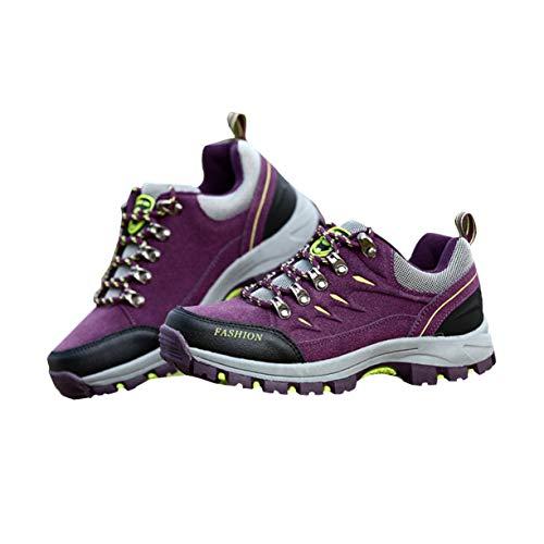 Purple de Al la Deportes Cuero para Scrub Aire 39 de Zapatos Mujeres ...