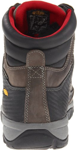 Keen Utility Mens Tucson Mid Work Boot,Magnet/Chili Pepper, 10 D US