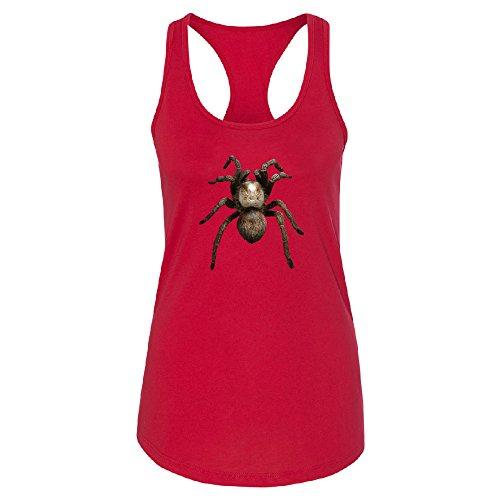 3D Spider - Tarantula Animals Women's Racerback Venom Black Widow Shirt Red - Black Spider Widow Venom