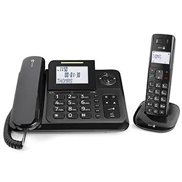 Doro - COMFORT4005 - Téléphone filaire + combiné avec répondeur - Noir 889ce3f04e83
