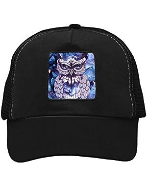 Unisex Block Owl Adjustable Classic Hiphop Hat Baseball Cap Snapback Dad Hat