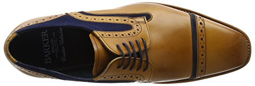 BARKER Herren haig Derbys, Cedar/Blue Brown (Cedar Calf/ Blue Suede)