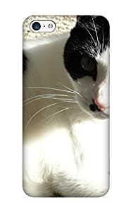 Flexible Tpu Back Case Cover For Iphone 5c - Animal Cat
