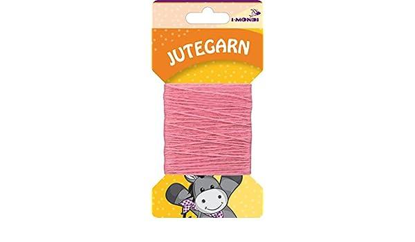 i-mondi® Hilo de yute para bordar tejer color rosa largo 10 m Ø ...