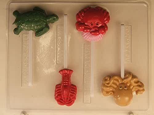 Sea Creatures (sea turtle, octupus, lobster, crab) AO233 All Occasion Chocolate Candy Mold
