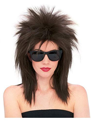 Rubie's Superstar Spiky Wig, Brown, One Size -