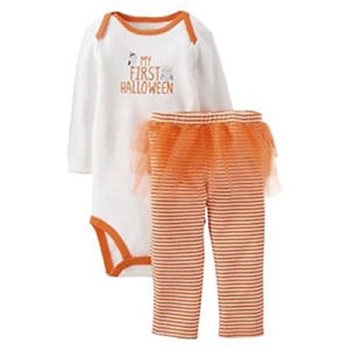 [Carters Infant Girls My First Halloween Outfit Owl Bodysuit & Ruffle Tutu Pants (6 MONTHS)] (Baby Halloween Tutus)