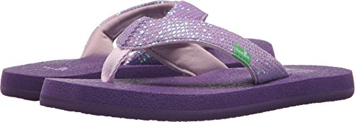 Sanuk Kids Girls' Yoga Glitter Flip-Flop, Purple, 13/1 M US Little Kid