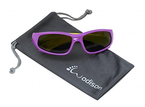 WODISON Kids Sports Sunglasses Polarized Flexible Rubber with Adjust Strap for Age 3 to - To Adjust Sunglasses That Sunlight