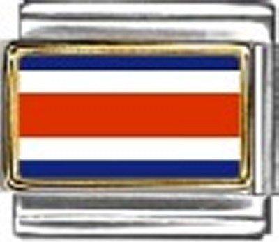 Costa Rica Photo Flag Italian Charm Bracelet Jewelry Link