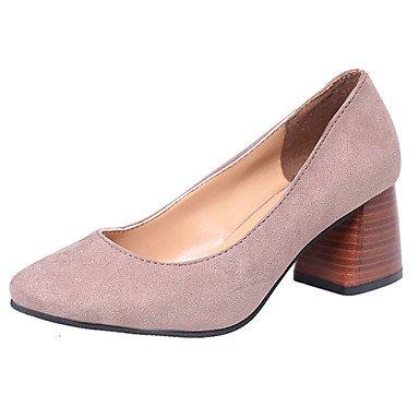 LvYuan-ggx Femme Chaussures à Talons Confort Polyuréthane Eté Décontracté Marche Confort Talon Bas Noir Rouge Kaki 2,5 à 4,5 cm black