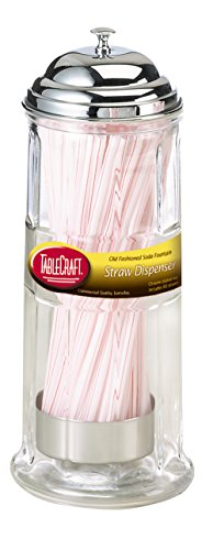 TableCraft Straw Dispenser, Includes Straws by Tablecraft