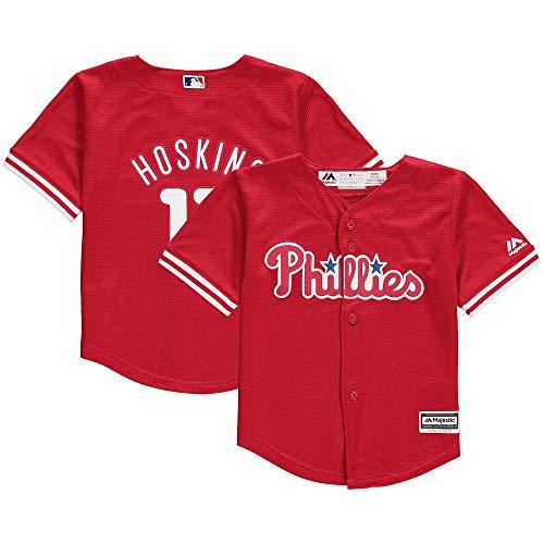 ins Philadelphia Phillies #17 Toddler 2-4T Cool Base Alternate Jersey Red (Toddler 4T) ()