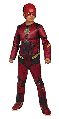 The Flash Classic Child Costumes (Rubie's Costume Boys Justice League Deluxe Flash Costume, Medium, Multicolor)
