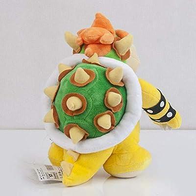 Meijiada Super Mario Bros King Bowser Koopa Plush Toy Stuffed Animal 9 Inches: Toys & Games