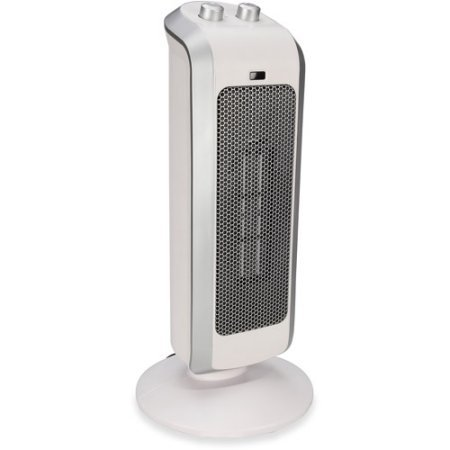 Crane Ceramic Ultra-Slim Oscillating Mini Tower Heater with Built-in Fan and Carrying Handle, White (Full Size Steam Engine compare prices)