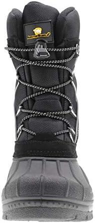 ArcticShield Mens Waterproof Insulated Warm Comfortable Durable Outdoor Ski Winter Snow Boots