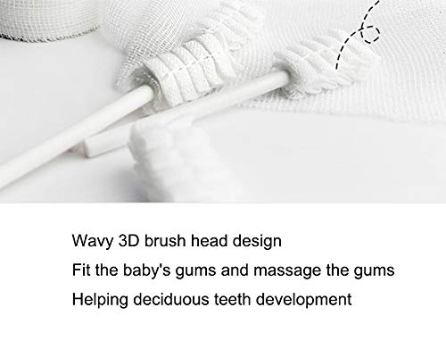 Gentle Will Not Damage The Teeth Baby Oral Toothbrush Suitable for Newborn Milk Toothbrush Tongue Moss Gauze Disposable Baby Tongue Cleaner