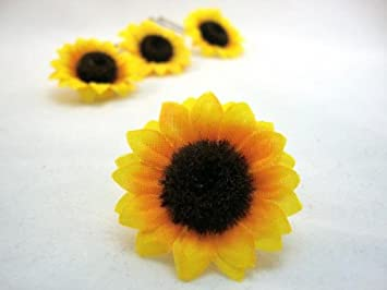 3ecffb839cc1f Sunflower Hair Pins - Set of 3