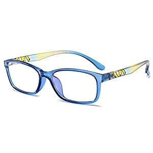 Fantia Unisex Child Non-Prescription Glasses Frame Clear Lens Kids Eyeglasses (2#-Blue)