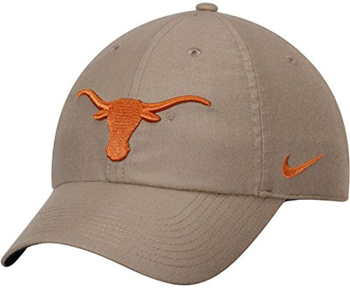 NCAA College Nike Heritage 86 Authentic Adjustable Performance Hat (One Size, Texas Longhorns- Khaki)