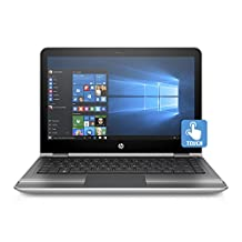 "HP 13.3"" Pavilion x360 Touch Convertible Notebook (Core i3-6100U, 4GB Ram, 500GB HDD), Windows 10 Home (Silver)"