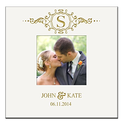 Personalized Wedding Anniversary Gifts Photo Album Book with Initial Holds 200 4x6 Photo - Monogram Photo Album
